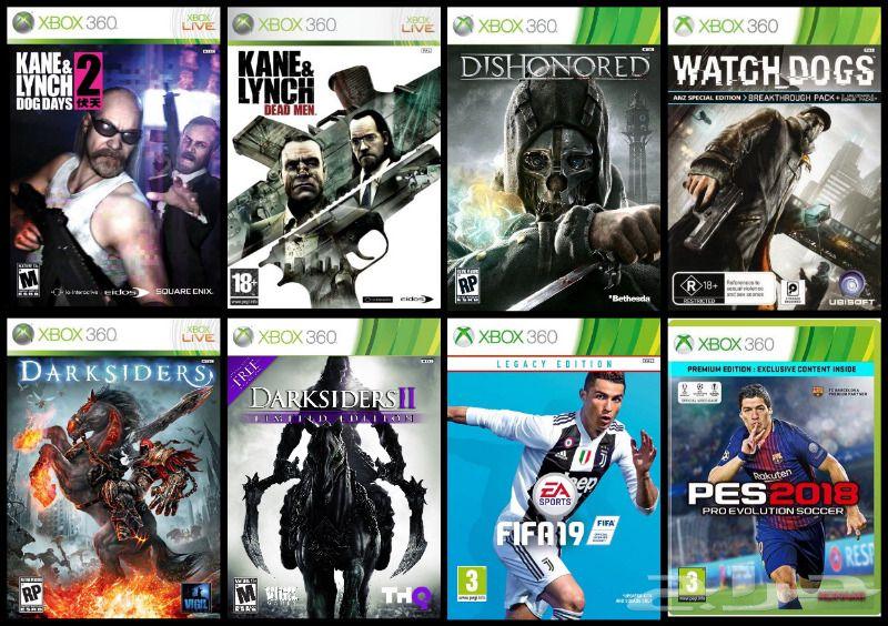 حراج الأجهزة العاب اكس بوكس Xbox 360 منسوخة اشرطة
