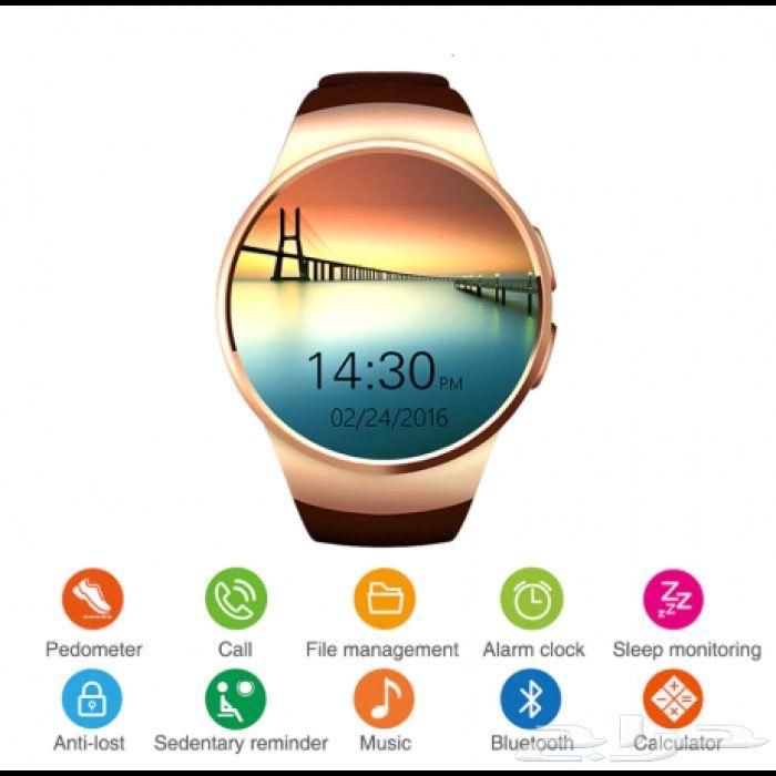 حراج الأجهزة   ساعة ذكية Smart Watch KW18 - ذهبي