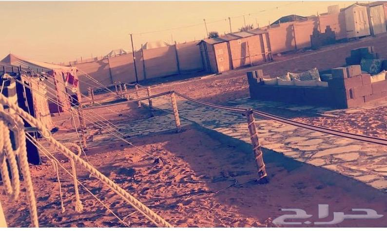 مخيم الثمامه قبل نقطه التفتيش