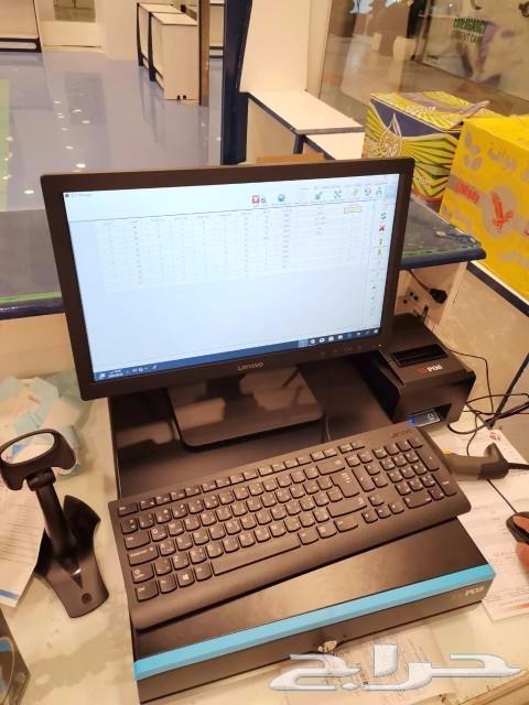 جهاز كاشير نقاط بيع مع البرنامج شامل التركيب